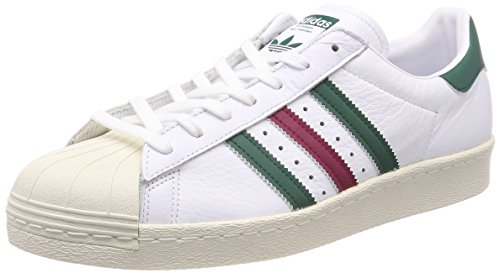 adidas Herren Superstar 80S CQ2654 Sneaker, Mehrfarbig (White 001), 46 2/3 EU